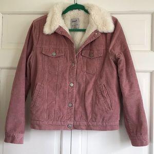 Denim Co. Faux Fur Lined Corduroy Jacket Size 8